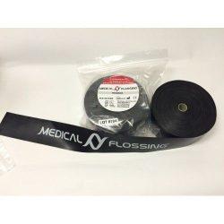MEDICAL FLOSSING Terápiás Gumiszalag 8,5 m x 5 cm 1,33 mm fekete