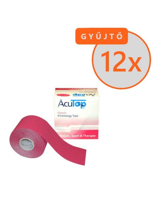 ACUTOP Classic Kineziológiai Tapasz / Szalag 5 cm x 5 m Rózsaszín 12 DB/GYŰJTŐ