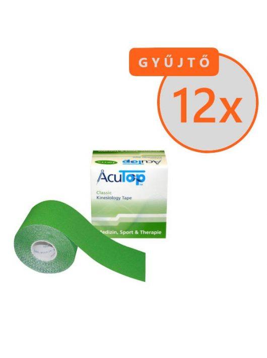 ACUTOP Classic Kineziológiai Tapasz / Szalag 5 cm x 5 m Zöld 12 DB/GYŰJTŐ