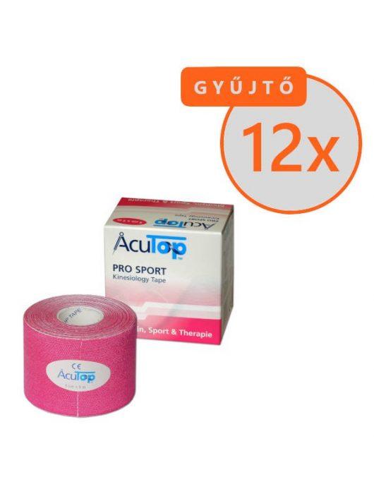ACUTOP Pro Sport Kineziológiai Szalag / Tapasz 5 cm x 5 m Rózsaszín 12 DB/GYŰJTŐ