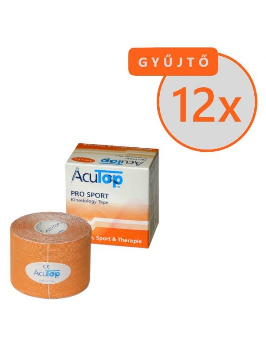 ACUTOP Pro Sport Kineziológiai Tapasz / Szalag 5 cm x 5 m Narancssárga 12 DB/GYŰJTŐ