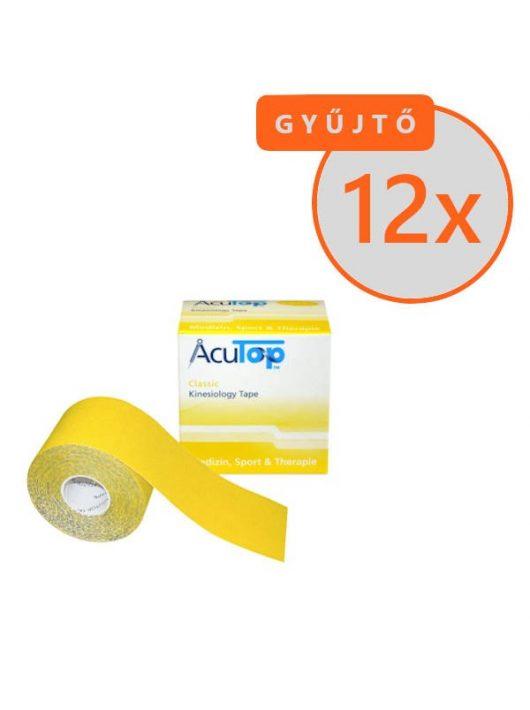 ACUTOP Classic Kineziológiai Szalag / Tapasz 5 cm x 5 m Sárga 12 DB/GYŰJTŐ