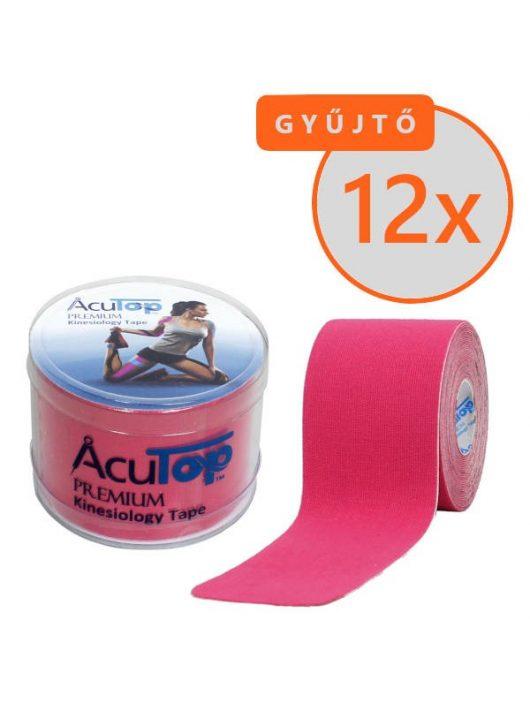 ACUTOP Premium Kineziológiai Tapasz / Szalag 5 cm x 5 m Rózsaszín 12 DB/GYŰJTŐ