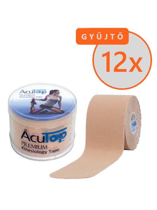 ACUTOP Premium Kineziológiai Szalag / Tapasz 5 cm x 5 m Bézs 12 DB/GYŰJTŐ