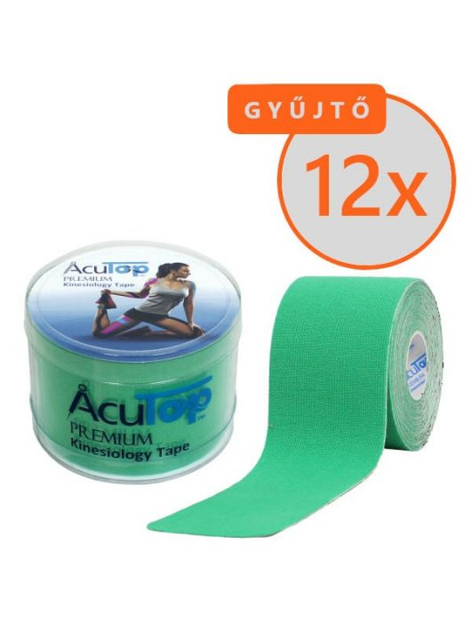ACUTOP Premium Kineziológiai Tapasz / Szalag 5 cm x 5 m Zöld 12 DB/GYŰJTŐ