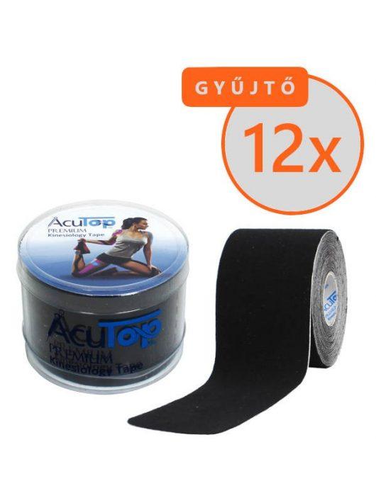 ACUTOP Premium Kineziológiai Szalag / Tapasz 5 cm x 5 m Fekete 12 DB/GYŰJTŐ