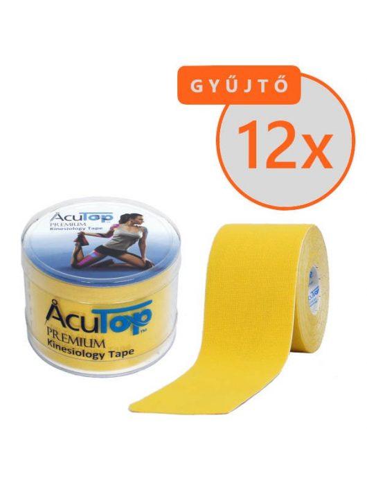 ACUTOP Premium Kineziológiai Szalag / Tapasz 5 cm x 5 m Sárga 12 DB/GYŰJTŐ